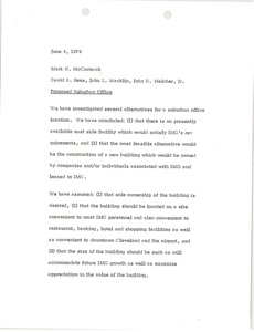 Thumbnail of Memorandum from David A. Rees, John L. Macklin and John H. Melcher to Mark H.             McCormack