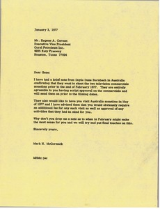 Thumbnail of Letter from Mark H. McCormack to Eugene A. Cernan