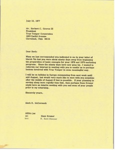Thumbnail of Letter from Mark H. McCormack to Herbert C. Graves