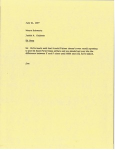 Thumbnail of Memorandum from Judy A. Chilcote to Maura Schwartz