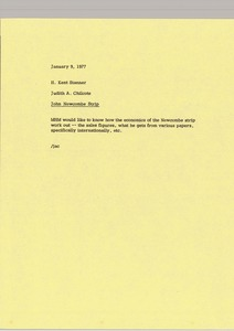 Thumbnail of Memorandum from Judith A. Chilcote to H. Kent Stanner