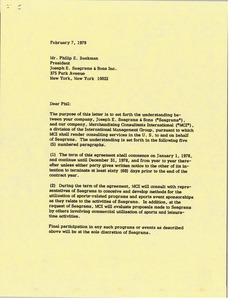 Thumbnail of Letter from Mark H. McCormack to Philip E. Beekman