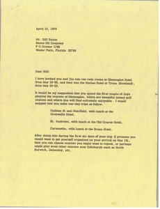 Thumbnail of Letter from Mark H. McCormack to Bill Saxon