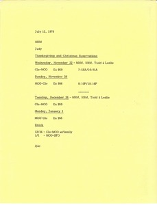 Thumbnail of Memorandum from Judy A. Chilcote to Mark H. McCormack
