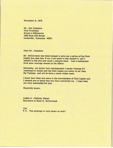 Thumbnail of Letter from Judy A. Chilcote to Don Johnston