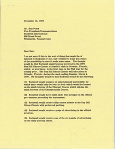 Thumbnail of Letter from Mark H. McCormack to Sam Petok