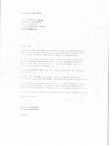 Letter from Mark H. McCormack to Tom E. Cottrell