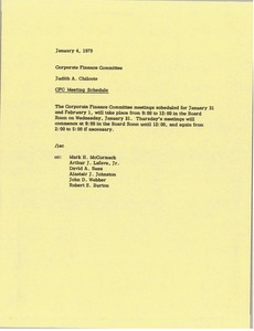 Thumbnail of Memorandum from Judy A. Chilcote to corporate finance committee