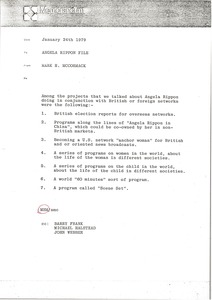 Thumbnail of Memorandum from Mark H. McCormack to Angela Rippon file