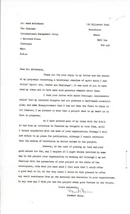 Thumbnail of Letter from Stewart Binns to Mark H. McCormack
