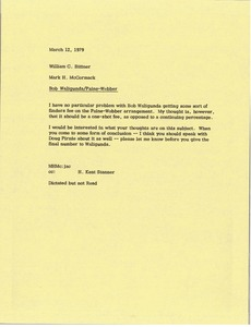 Thumbnail of Memorandum from Mark H. McCormack to Bill Bittner