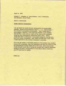 Memorandum from Mark H. McCormack to Alastair J. Johnston, H. Kent Stanner, Jan D. Steinmann, Jay Michaels, and Barry Frank