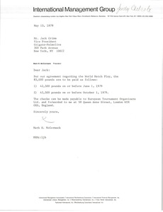 Thumbnail of Letter from Mark H. McCormack to John E. Grimm