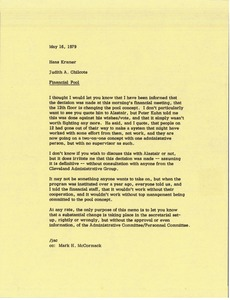 Thumbnail of Memorandum from Judy A. Chilcote to Hans Kramer