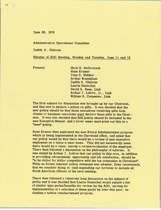 Thumbnail of Memorandum from Judy A. Chilcote to administrative operational committee