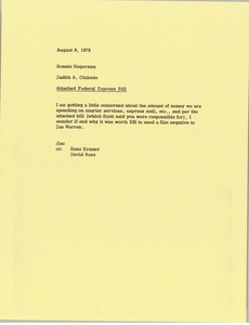 Thumbnail of Memorandum from Judy A. Chilcote to Bonnie Hagerman