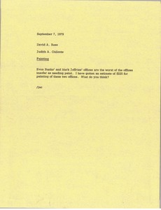 Thumbnail of Memorandum from Judith A. Chilcote to David A. Rees