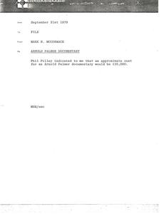 Memorandum from Mark H. McCormack to file