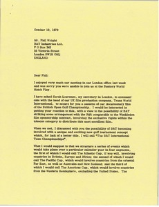 Thumbnail of Letter from Mark H. McCormack to Phil Wright