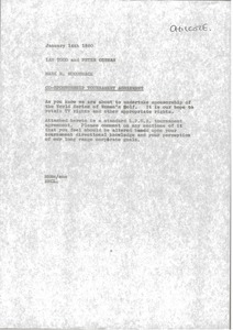 Thumbnail of Memorandum from Mark H. McCormack to Ian Todd and Peter German