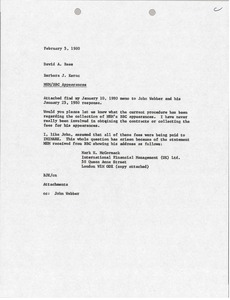 Thumbnail of Memorandum from Barbara Kernc to David A. Rees
