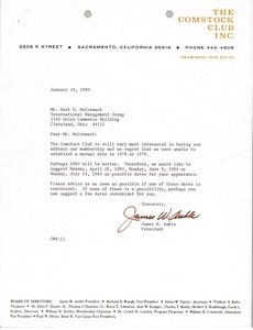 Thumbnail of Letter from James W. Auble to Mark H. McCormack