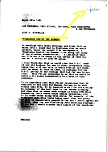 Thumbnail of Memorandum from Mark H. McCormack to Jay Michaels, Phil Pilley, Ian Todd, John             Beddington and Jan Steinmann