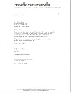 Thumbnail of Letter from Barbara J. Kernc to John Clark