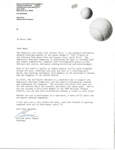 Thumbnail of Letter from William D. Fugazzy to Mark H. McCormack