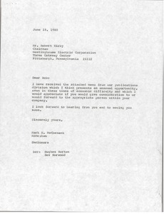 Thumbnail of Letter from Mark H. McCormack to Robert Kirby