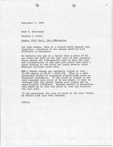 Thumbnail of Memorandum from Barbara J. Kernc to Mark H. McCormack