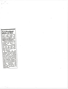 Thumbnail of Clipping concerning Donald E. Petersen