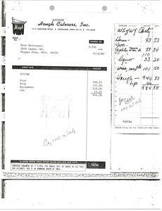 Thumbnail of Hough Caterers invoice