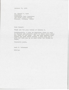 Thumbnail of Letter from Mark H. McCormack to Howard H. Lamb