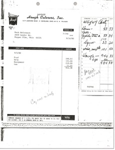 Thumbnail of Catering invoice