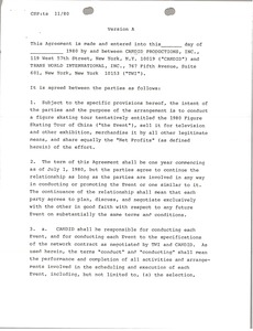 Thumbnail of Trans World International and Candid agreement