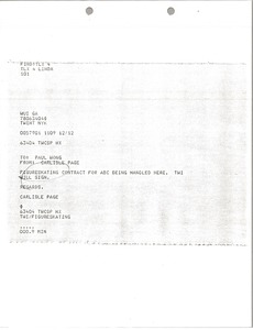 Thumbnail of Telex printouts from Carlisle Page to Paul Wong