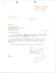 Thumbnail of Letter from Yvonne Ruhoff to Mark H. McCormack