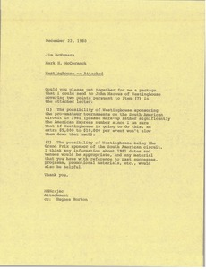 Thumbnail of Memorandum from Mark H. McCormack to Jim McNamara