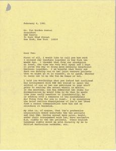 Letter from Mark H. McCormack to Van Gordon Sauter