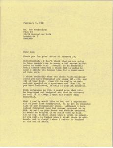 Letter from Mark H. McCormack to Ian Wooldridge