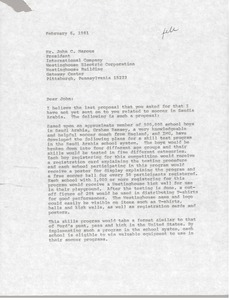 Thumbnail of Letter from Mark H. McCormack to John C. Marous