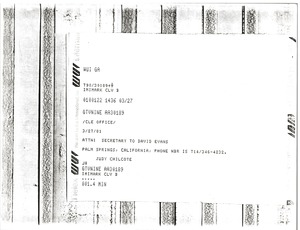 Thumbnail of Telex prinotuts from Judy Chilcote to Cleveland office