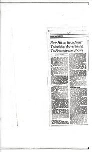 Thumbnail of Broadway advertising article