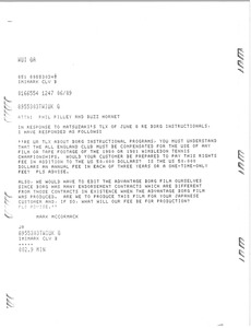 Thumbnail of Memorandum from Mark H. McCormack to Phil Pilley and Buzz Hornett