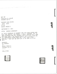 Thumbnail of Telex prinotuts from Mark H. McCormack to Gordon Lazenbury