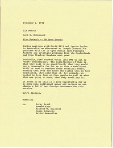 Thumbnail of Memorandum from Mark H. McCormack to Jim Bukata