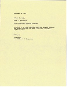 Thumbnail of Memorandum from Mark H. McCormack to Robert D. Kain