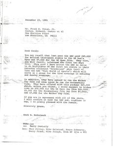 Letter from Mark H. McCormack to Frank D. Tatum