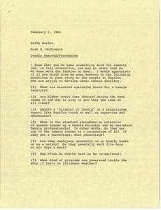 Thumbnail of Memorandum from Mark H. McCormack to Buffy Gordon